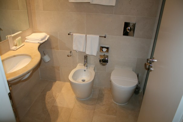 Toilet on the right.