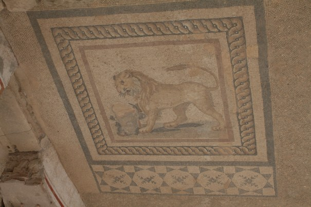 Nice lion, must have been a boy's room.