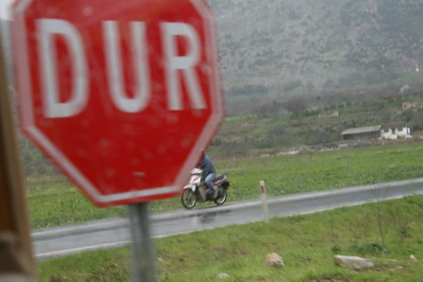 Turkish stop sign.