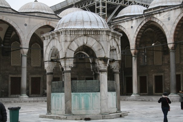 Inside the Courtyard to the Mosque
