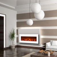 Regal Flame Ashford 50 Inch White Ventless Heater Electric ...