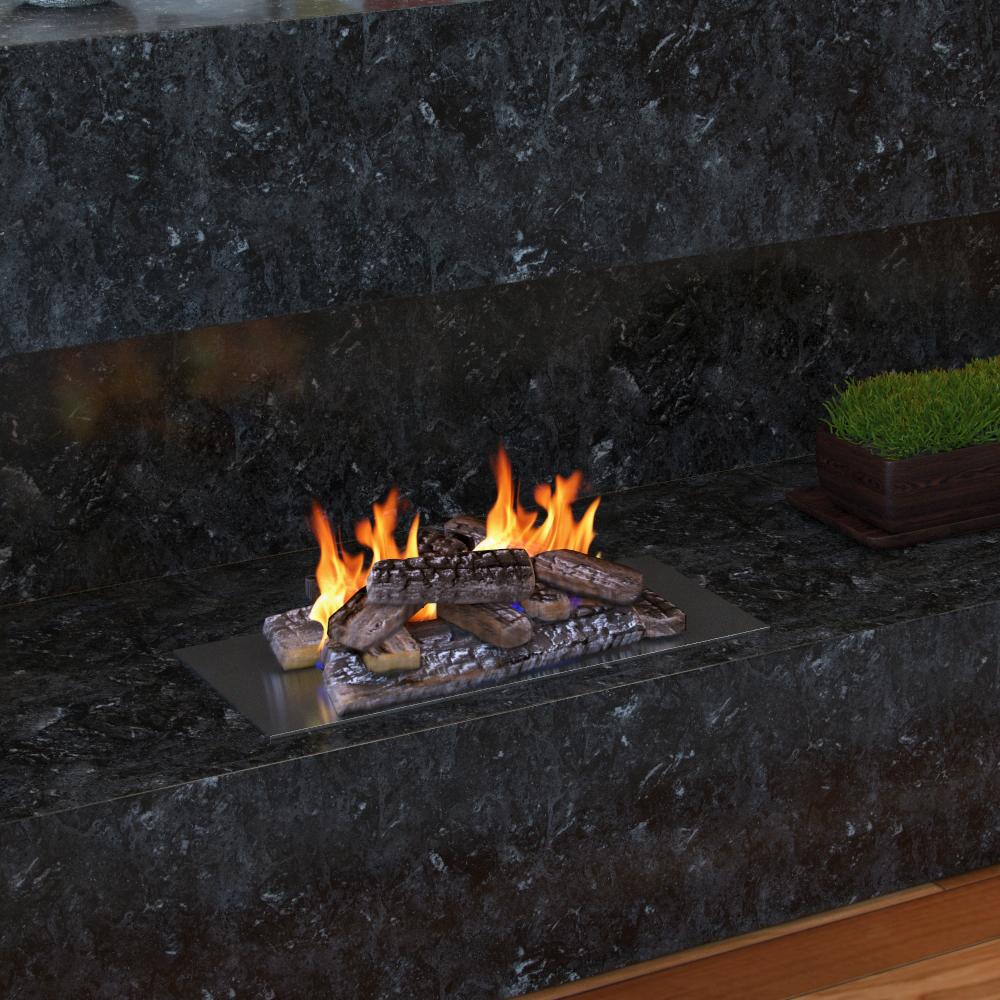 Set of 10 Ceramic Fiber Propane Gel Ethanol Gas Fireplace