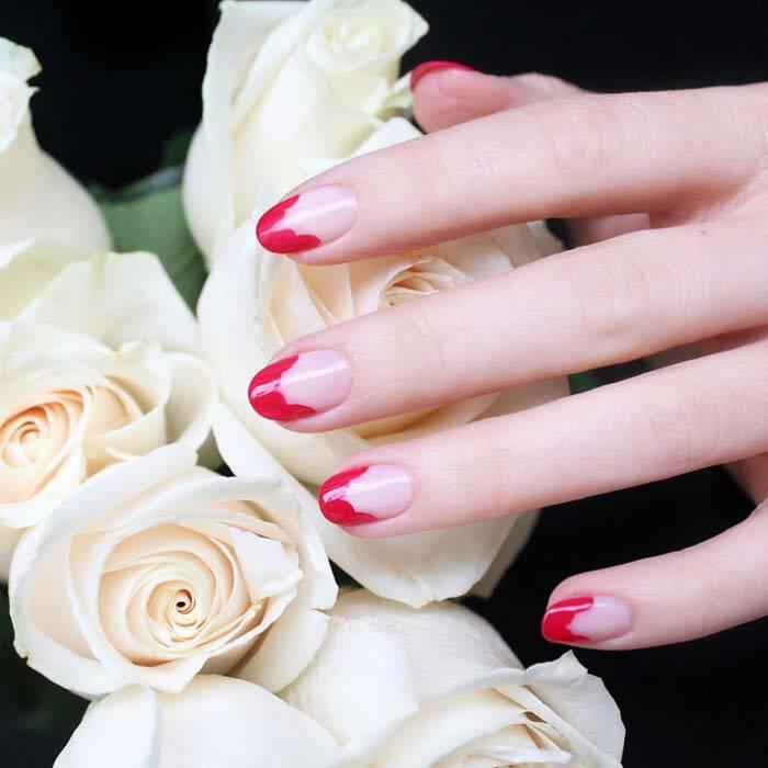Κόκκινα νύχια: 30 υπέροχες παραλλαγές (30)