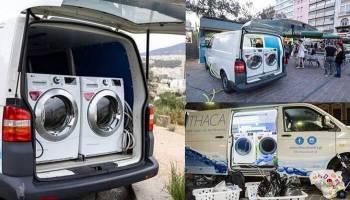 Έλληνες Δημιούργησαν Κινητό Πλυντήριο Ρούχων Για Να Πλένουν Τα Ρούχα Τους  Οι Άστεγοι dd57bc93790