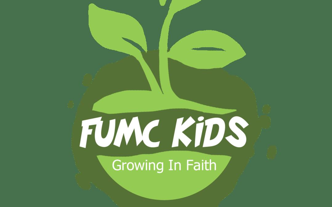 FUMC Kids fall program kicks off August 19th and 20th.