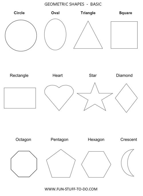 small resolution of Geometric Shapes Worksheets   Free To Print