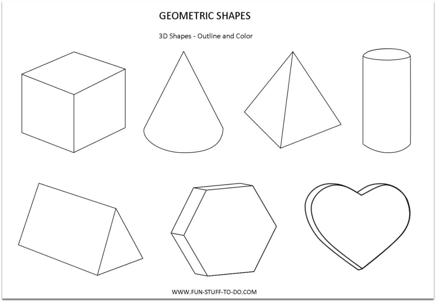 Shape Pattern Worksheets