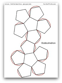 Printable dodecahedron template