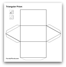 net diagram of triangular prism directed electronics wiring diagrams printable shapes