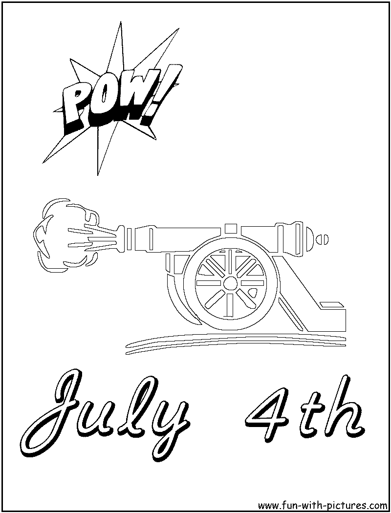 4th July Coloring Page