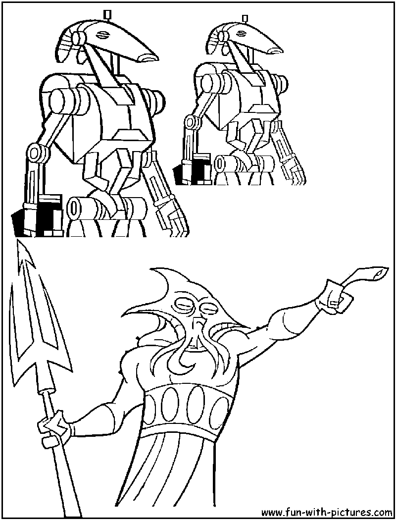 battle droid colouring pages (page 2)