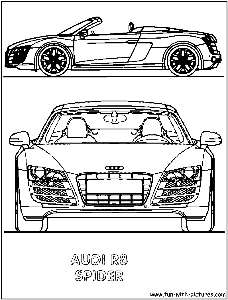 Audi R8 Spider Coloring Page