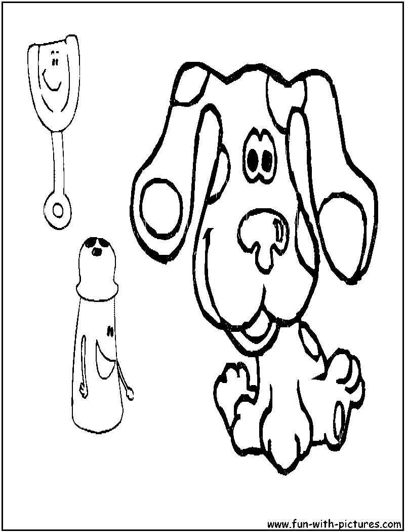 Bluesclues1 Coloring Page