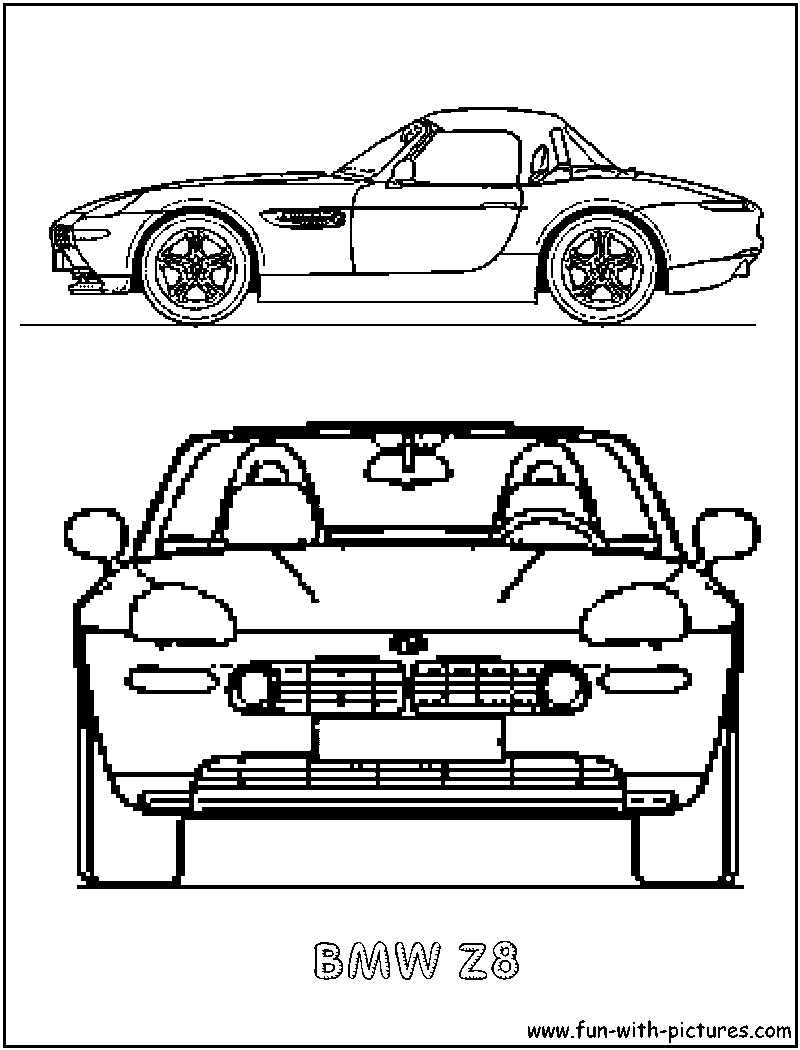 Bmw Z8 Coloring Page