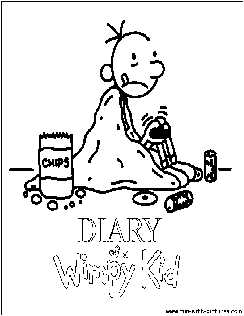 diary of a wimpy kid colouring pages