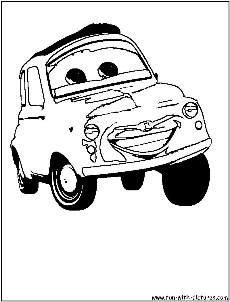 Disney Cars Luigi Coloring Page