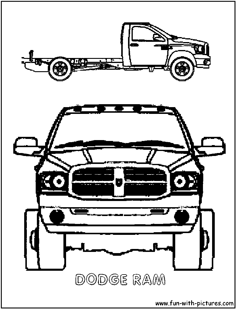 Dodge Ram Coloring Page