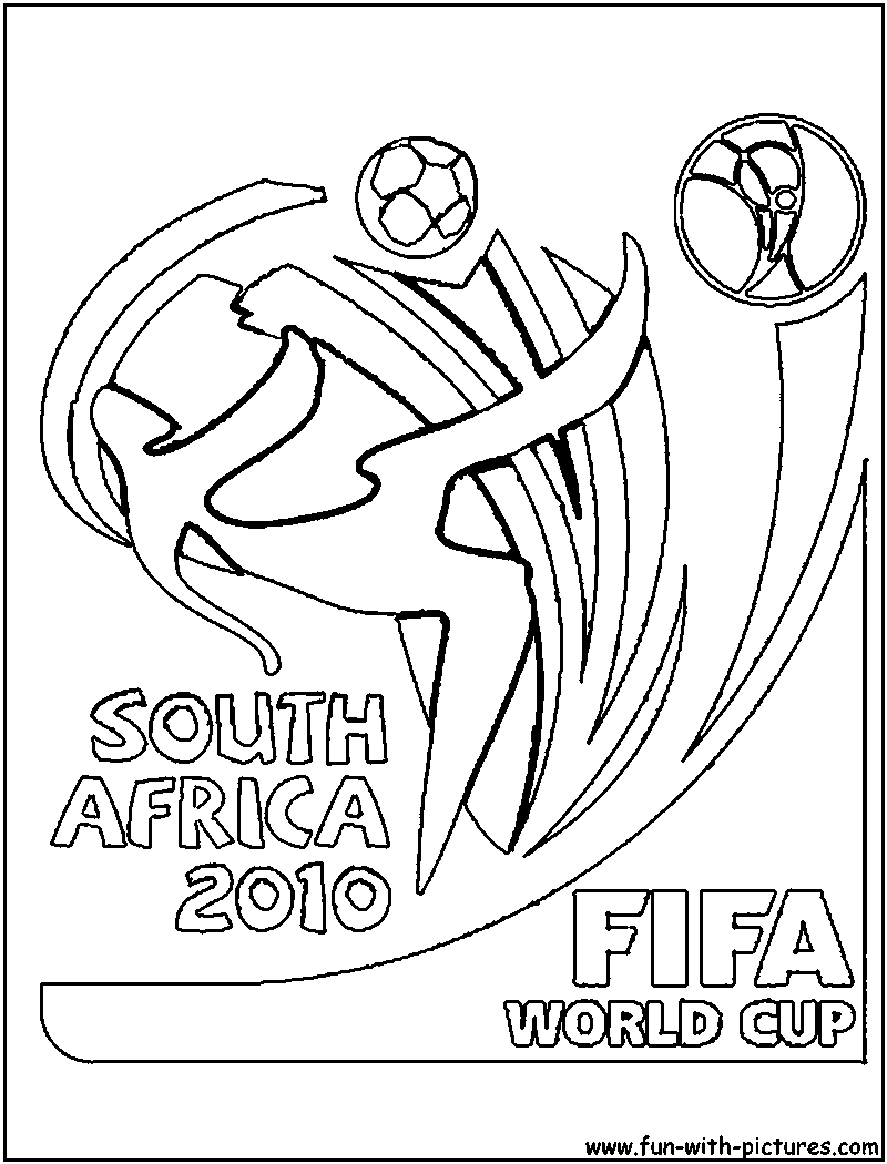 Fifa Worldcup Logo Coloring Page