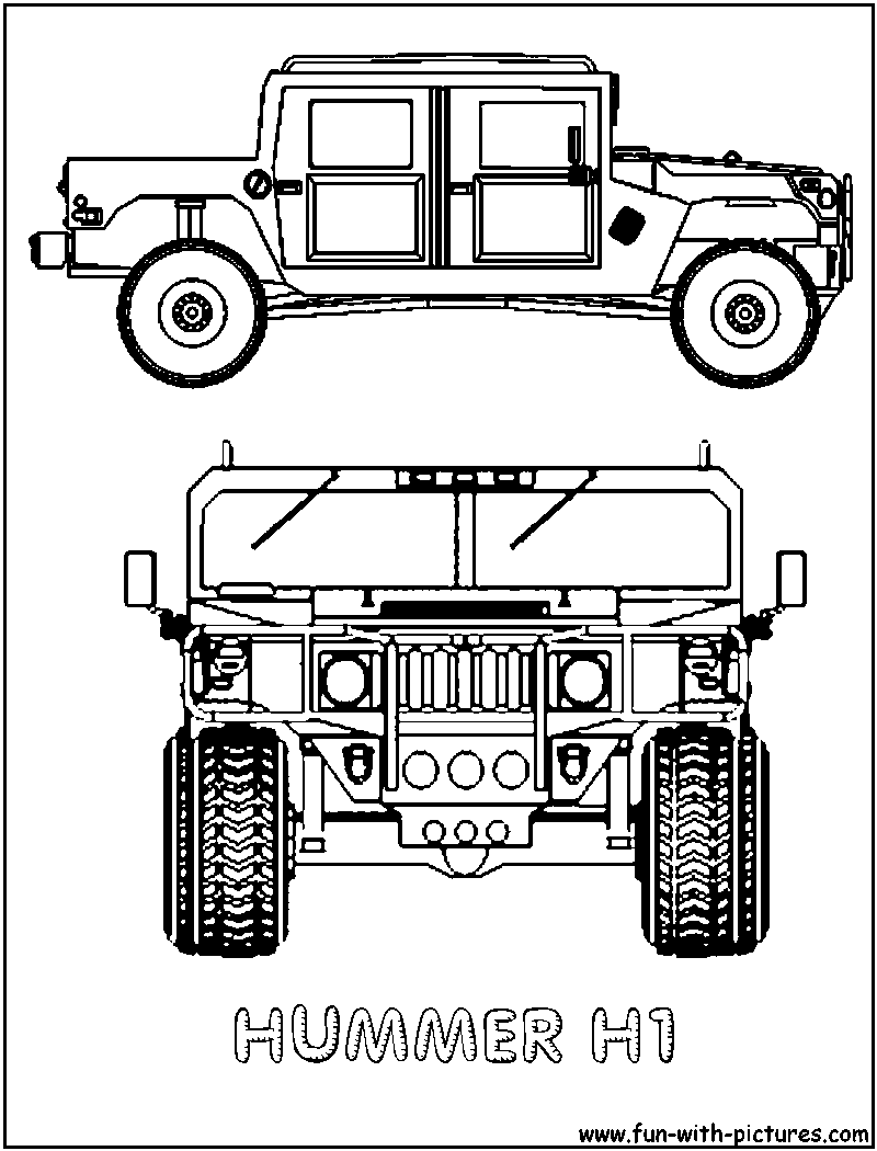 Hummer H1 Coloring Page