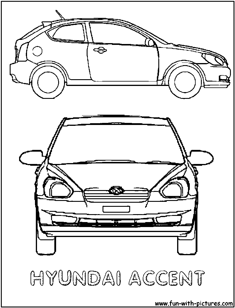 Hyundai Accent Coloring Page