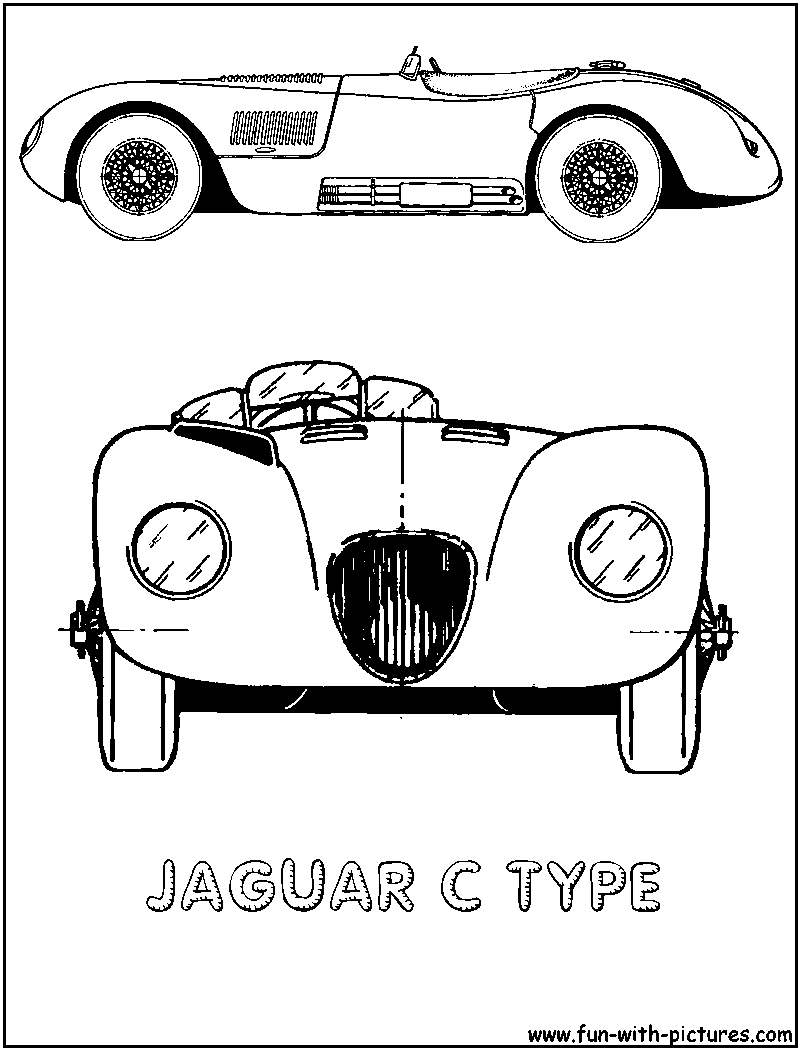 Free coloring pages of jaguar s type