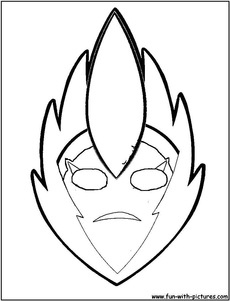 tribal african mask coloring pages