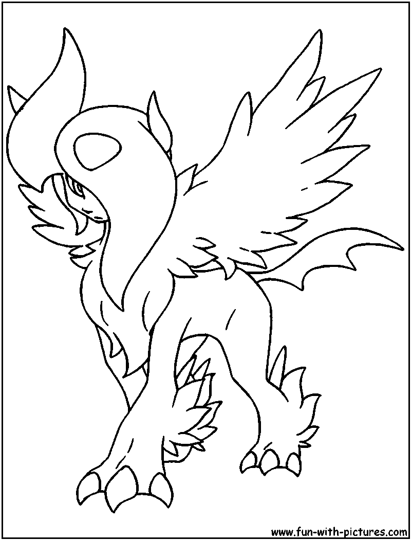 Free coloring pages of pokémon absol