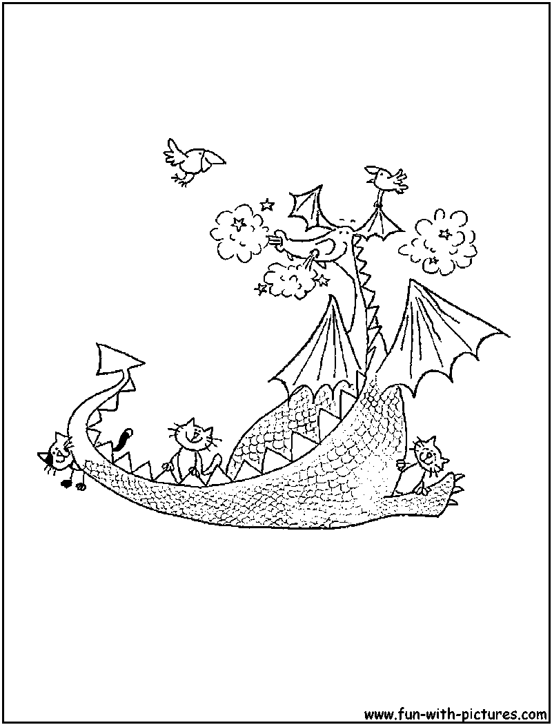 Puff The Magic Dragon Coloring Pages Coloring Pages