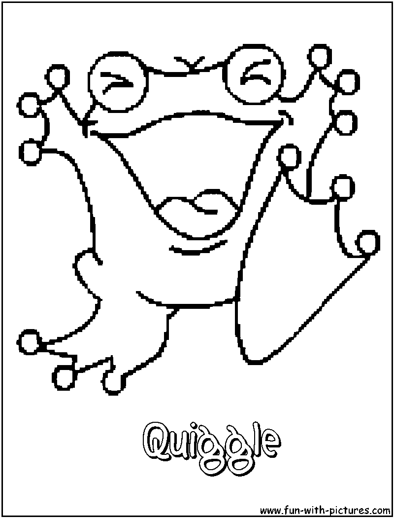 Quiggle Coloring Page