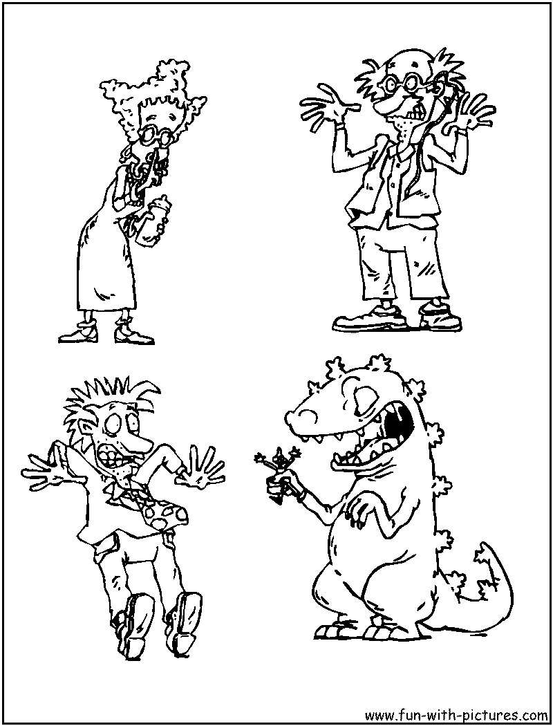 Rugrats Coloring Pages Free Printable Colouring Pages