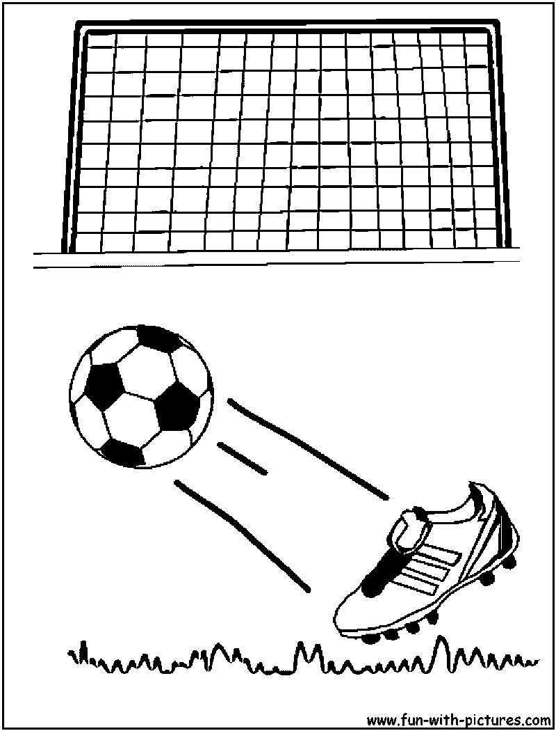 Soccer Goal Coloring Pages