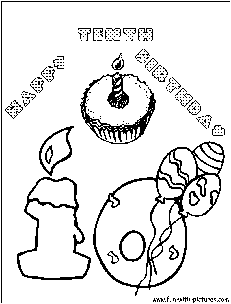Free coloring pages of happy birthday nana cake