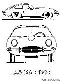 Jaguar Ss 100 Coloring Page