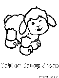 Free Kids Coloring Pages: webkinz cotton candy sheep