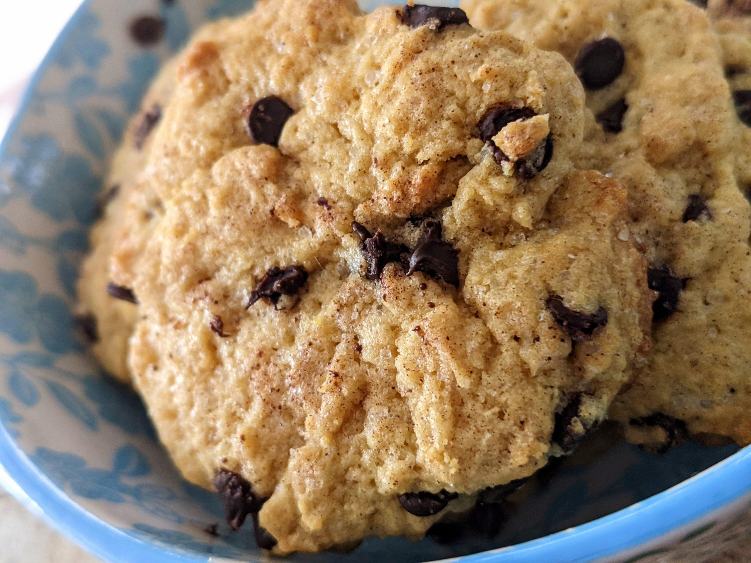Chocolate chips cookies burro arachidi