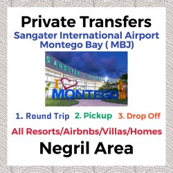 Private Transfer From Sangster International Airport Montego Bay to All Resorts, Villas, AirBnbs & Homes in Negril Area