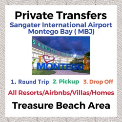 Private Transfer From Sangster International Airport Montego Bay to All Resorts, Villas, AirBnbs & Homes in Treasure Beach Area