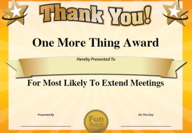 Funny Office Awards Ideas List