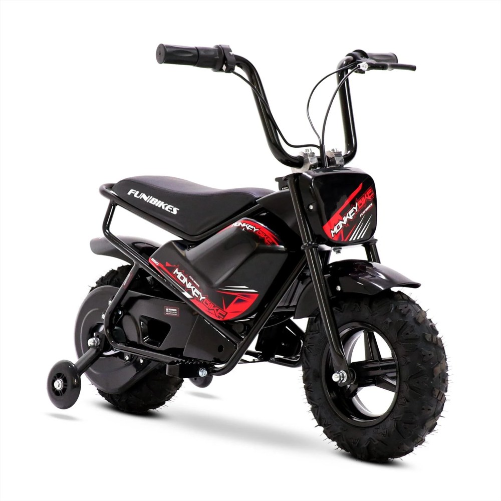 medium resolution of funbikes mb 43cm black 250w electric kids monkey bike in stock