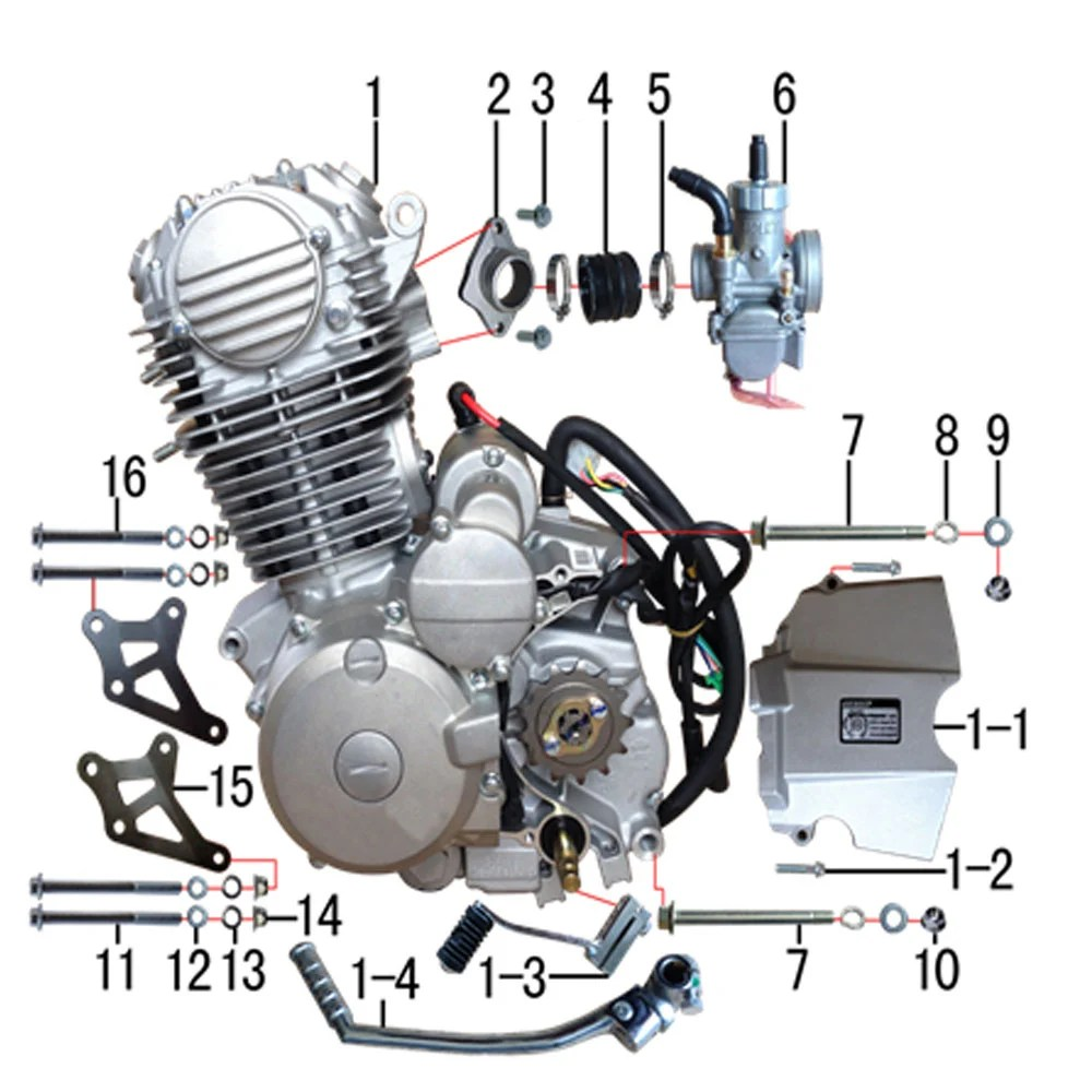 hight resolution of m2r m1 250cc dirt bike engine to carb manifold intake sold out