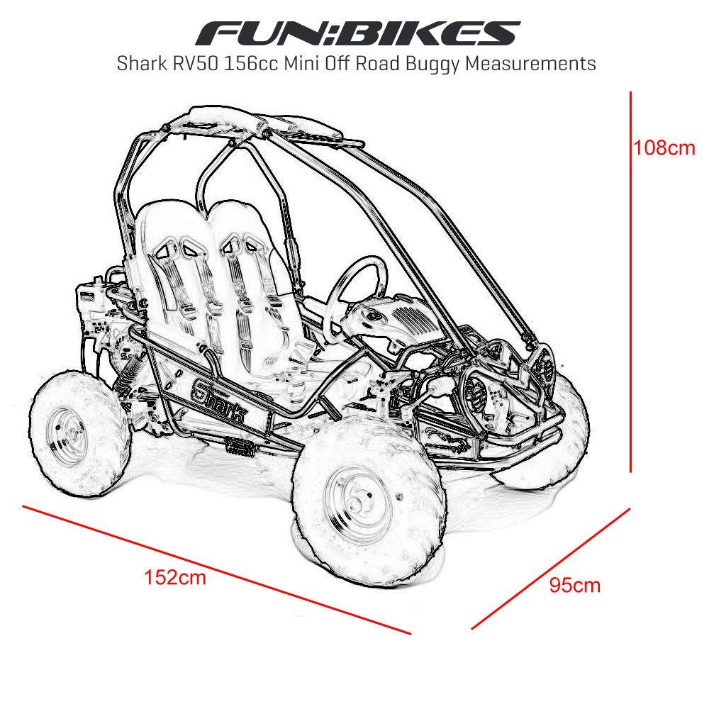 FunBikes Shark RV50 156cc Pink Mini Off Road Buggy