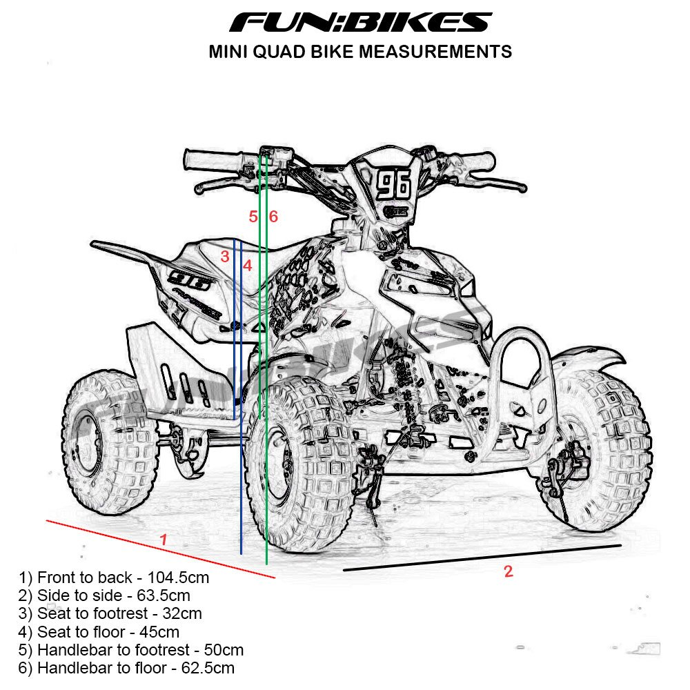 FunBikes 49cc Petrol Pink Kids Mini Quad Bike
