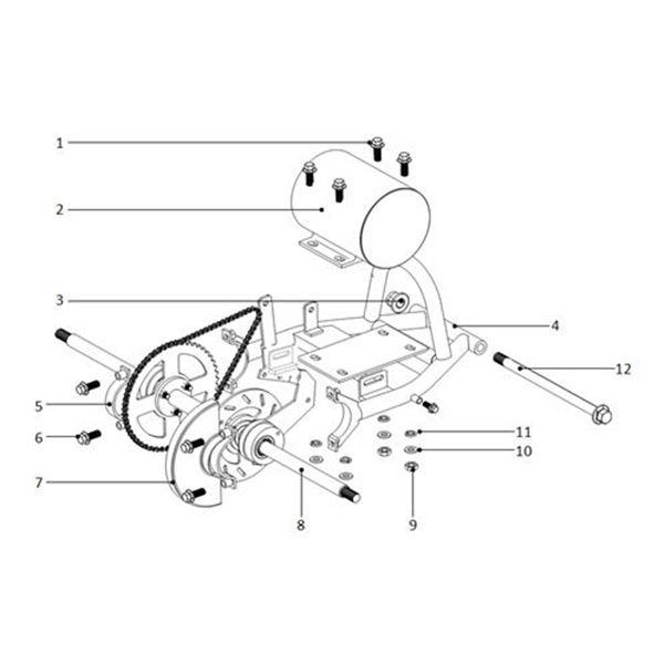 Funbikes 96 Electric Mini Quad 36 Volt 800 Watt Motor