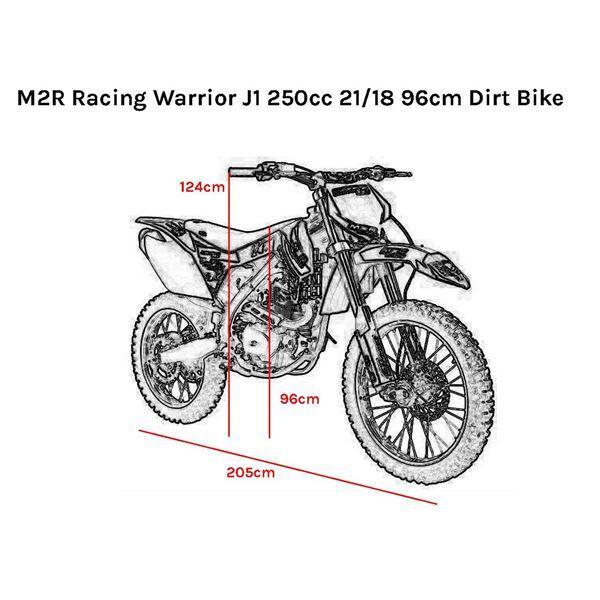 M2R M1 250cc 21/18 96cm Dirt Bike