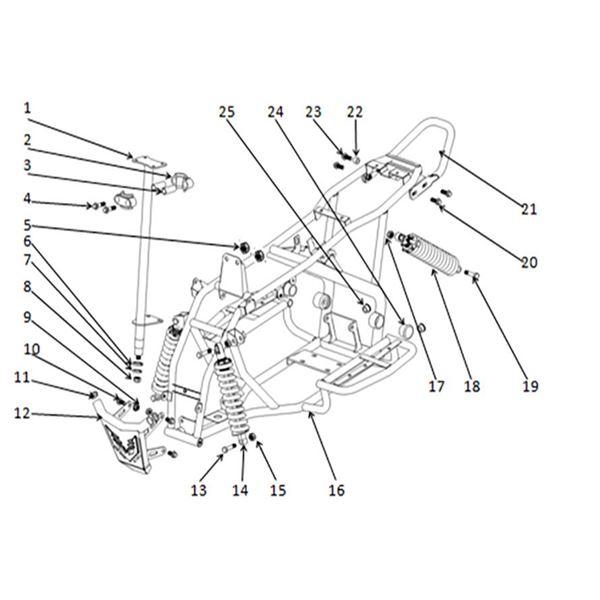 Funbikes T-Max Quad Bike Rear Shock Absorber Lock Nut