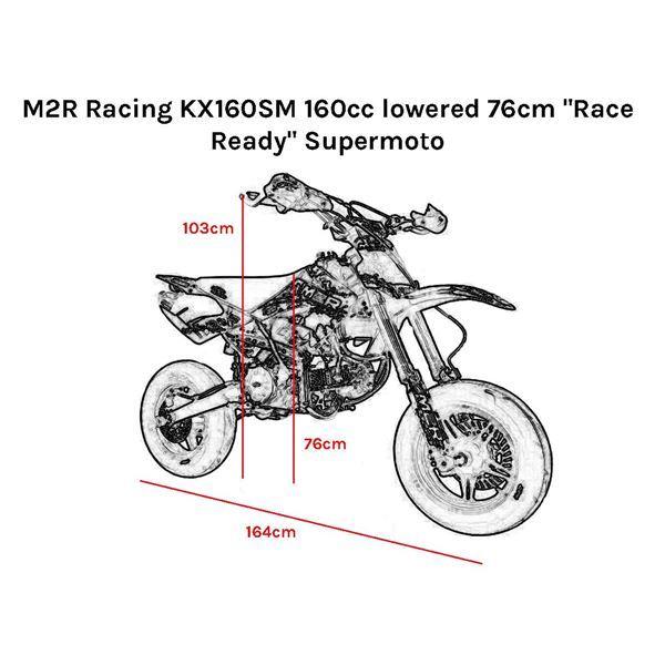 M2R Racing KM160SM 160cc lowered 76cm