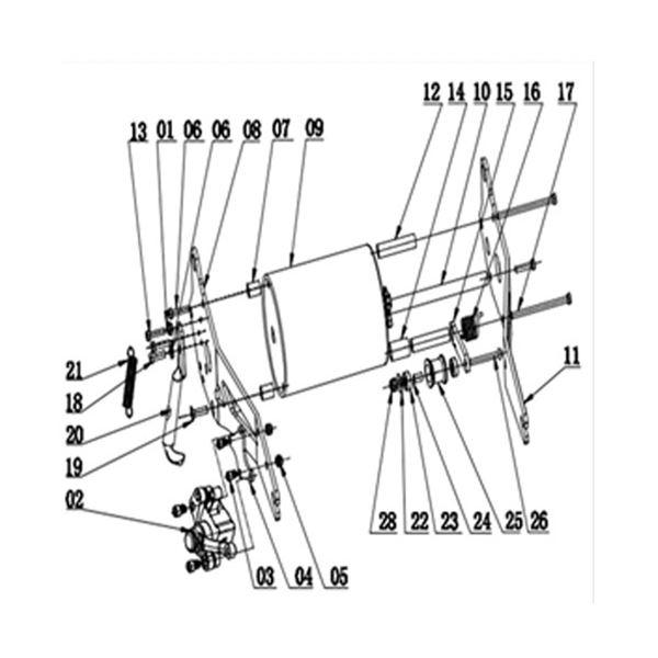 Funbikes Uber S1000W 36v Chain Tensioner Attachment Bolt
