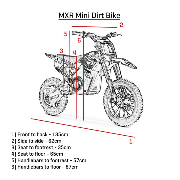 FunBikes MXR 65cm 1300w Green Electric Lithium Mini Dirt