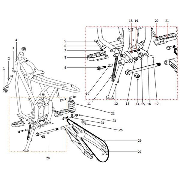 FunBikes Electric MXR Dirt Bike Chain Tensioner Holder