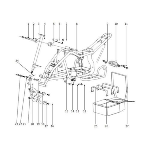 Funbikes 96 Electric Mini Quad Steering Column Upper Clamp